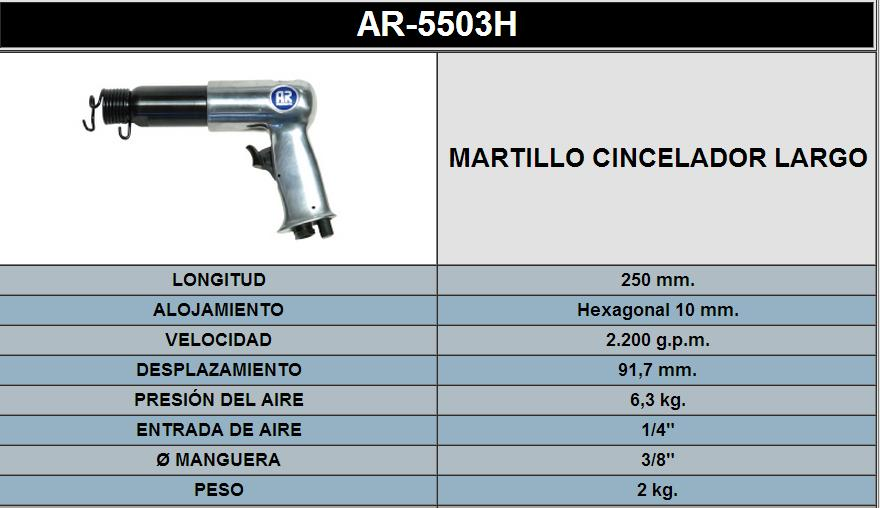 MARTILLO CICELADOR LARGO 5503H